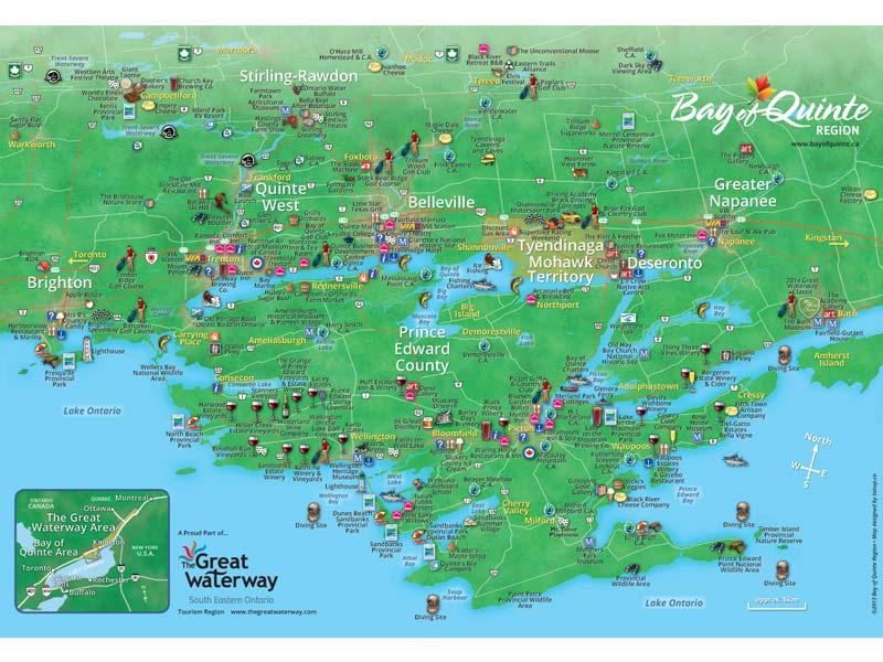 Bay of Quinte map 2013