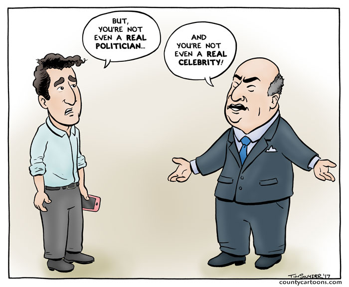 O'Leary Trudeau - Celebrity Politicians