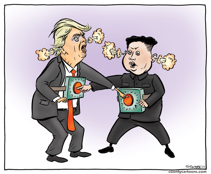 Trump and Kim Jong Un  are pushing each others buttons