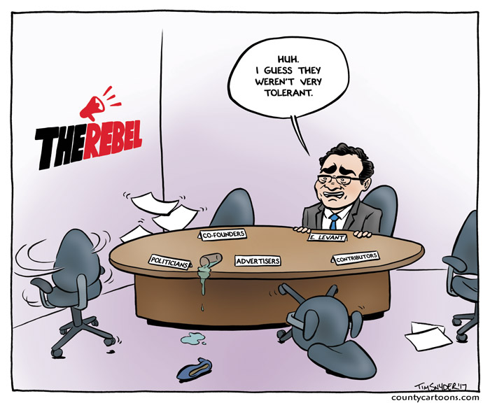 Ezra Levant ponders why everyone has left the Rebel