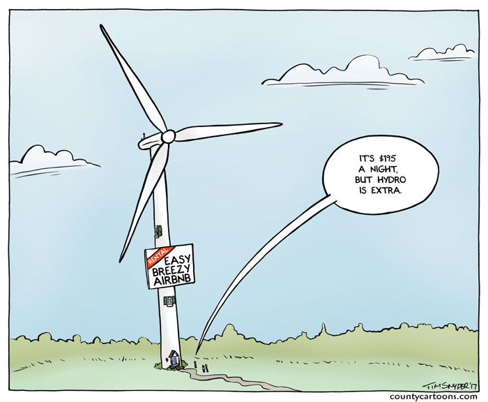 Wind Turbine airbnb