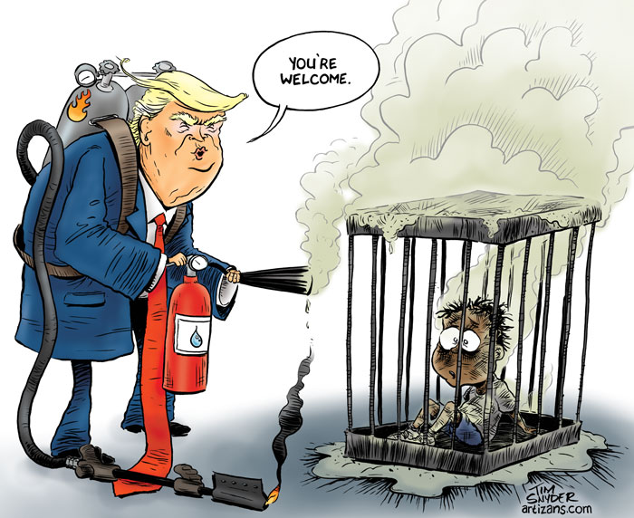 President Arsonist Firefighter