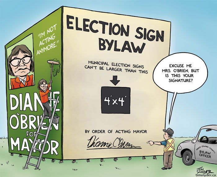 Dianne O'Brien Election Signs
