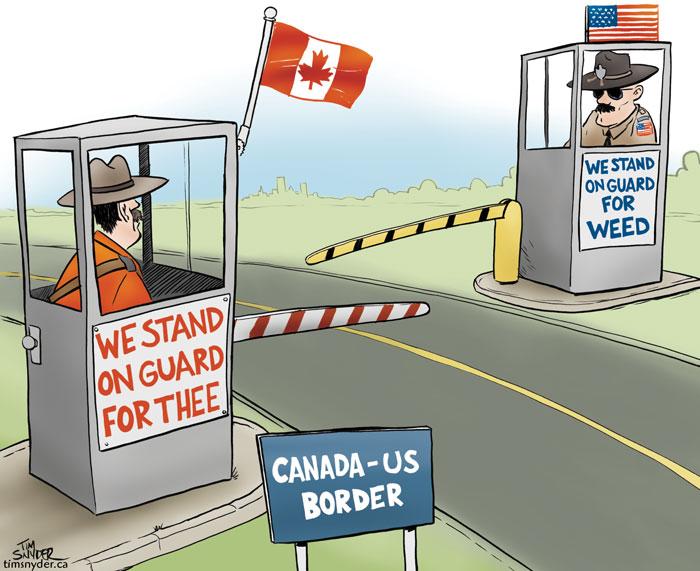 Canada US Border Weed