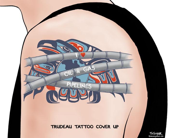 Trudeau Tattoo Cover Up