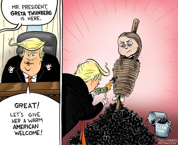 Trump meets Greta